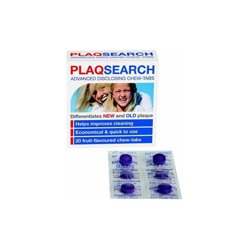 Plaqsearch Disclosing 20 tablets in a pack